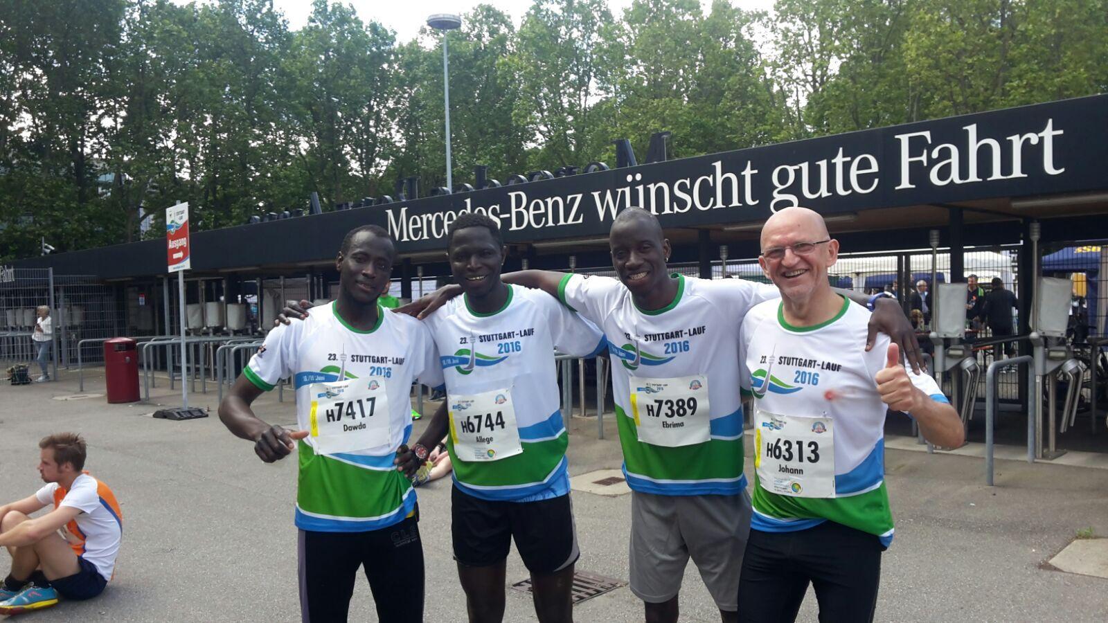 Flüchtlinge beim Stuttgart Lauf
